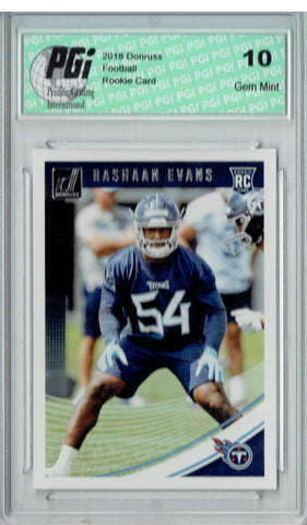 Rashaan Evans 2018 Donruss Football #361 Rookie Card PGI 10