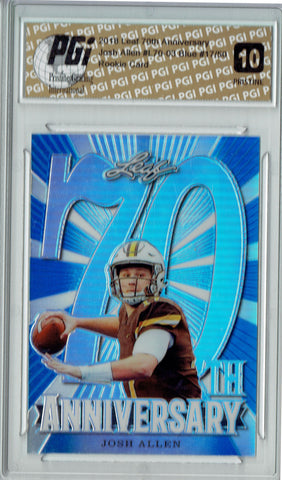 Josh Allen 2018 Leaf 70th #L70-03 PRISTINE JERSEY #17/50 Rookie Card PGI 10