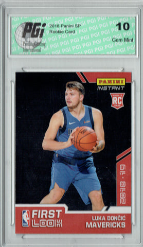 Luka Doncic 2018 Panini First Look #FL-3 1 of 567 Rookie Card PGI 10