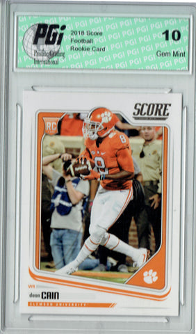 Deon Cain 2018 Score Football #393 Rookie Card PGI 10