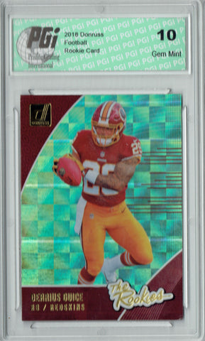 Derrius Guice 2018 Donruss #R-7 The Rookies SP Rookie Card PGI 10