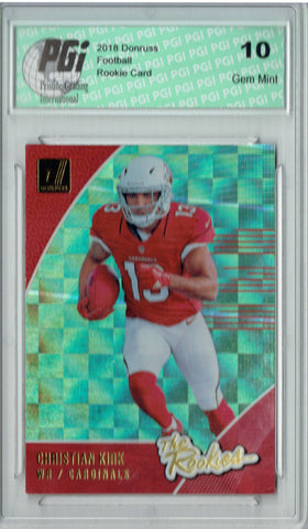 Christian Kirk 2018 Donruss #R-13 The Rookies SP Rookie Card PGI 10