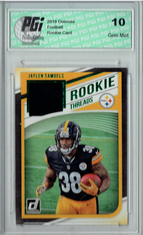 Jaylen Samuels 2018 Donruss #34 Rookie Threads SP Rookie Card PGI 10