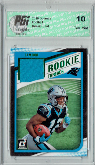 DJ Moore 2018 Donruss #16 Rookie Threads SP Rookie Card PGI 10