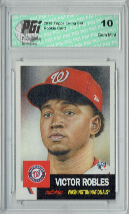 Victor Robles 2018 Topps Living Set #80 6,104 Made Rookie Card PGI 10