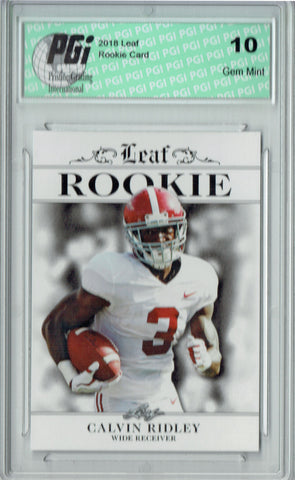 Calvin Ridley 2018 Leaf Exclusive #RA-05 Only 200 Made Rookie Card PGI 10