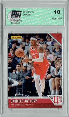 Carmelo Anthony 2018 Panini Tip-Off #3, 1 of 330 Made SSP Card PGI 10