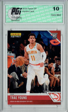 Trae Young 2018 Panini Tip-Off #11, 1 of 330 Made Rookie Card PGI 10