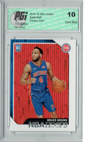 Bruce Brown 2018 NBA Hoops #255 Rookie Card PGI 10