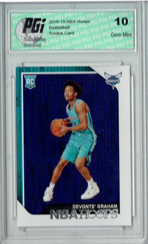Devonte' Graham 2018 NBA Hoops #253 Rookie Card PGI 10