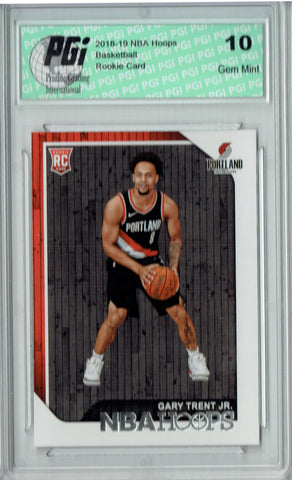 Gary Trent Jr. 2018 NBA Hoops #263 Rookie Card PGI 10