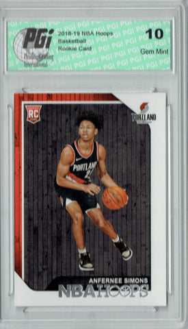 Anfernee Simons 2018 NBA Hoops #277 Rookie Card PGI 10