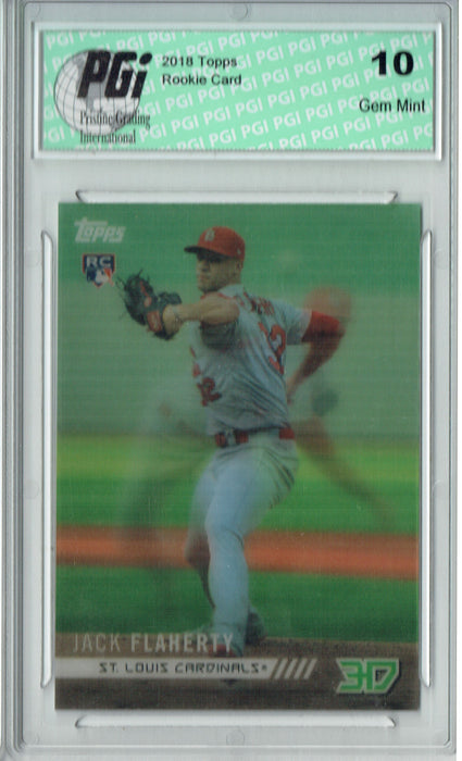 Jack Flaherty 2018 Topps 3D #M-26 Only 538 Made Rookie Card PGI 10