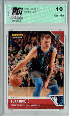 Luka Doncic 2018 Panini Instant #35 Just 131 Ever Made Rookie Card PGI 10