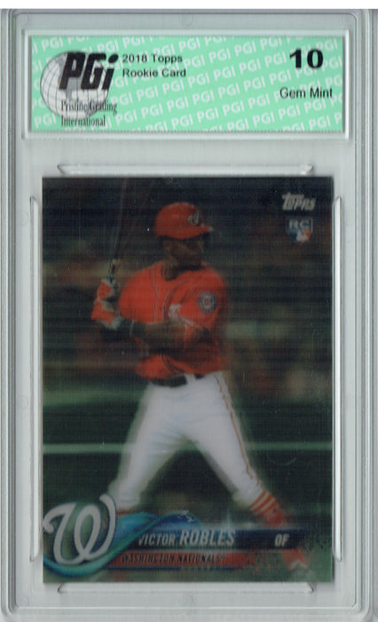 Victor Robles 2018 Topps 3D #26 Just 269 Cards Made Rookie Card PGI 10
