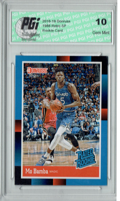 Mo Bamba 2018 Donruss #RR6 1988 Rated Rookie Retro Rookie Card PGI 10