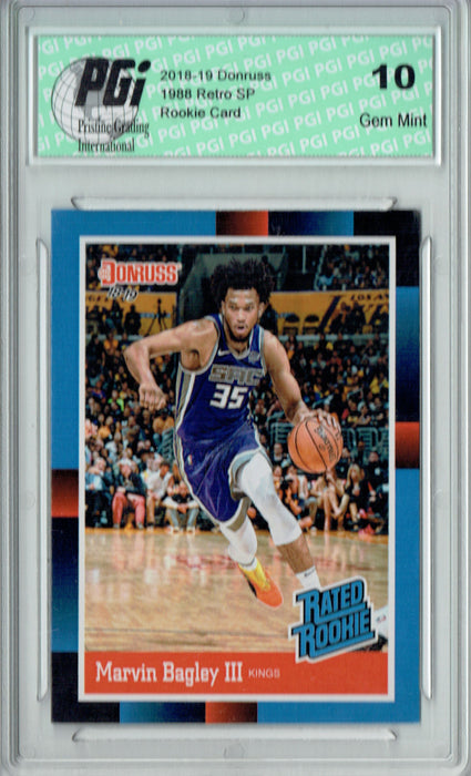 Marvin Bagley III 2018 Donruss #RR2 1988 Rated Rookie Retro Rookie Card PGI 10