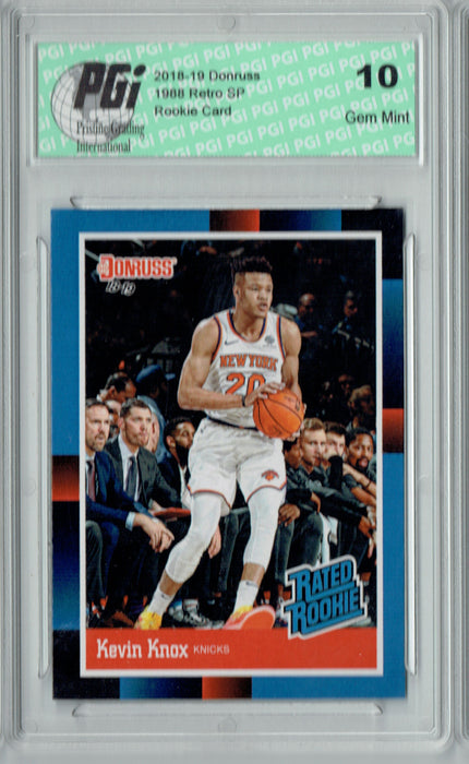 Kevin Knox 2018 Donruss #RR9 1988 Rated Rookie Retro Rookie Card PGI 10
