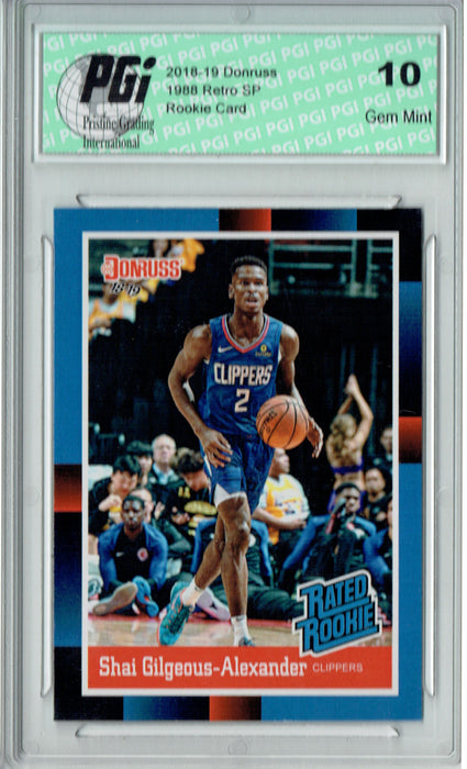 Shai Gilgeous-Alexander 2018 Donruss #RR11 1988 Rated Rookie Retro Rookie Card PGI 10