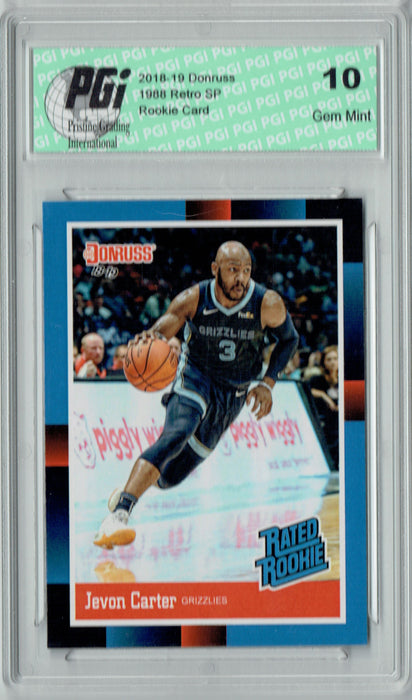 Jevon Carter 2018 Donruss #RR30 1988 Rated Rookie Retro Rookie Card PGI 10