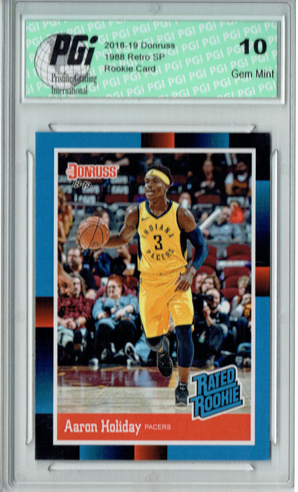 Aaron Holiday  2018 Donruss #RR21 1988 Rated Rookie Retro Rookie Card PGI 10
