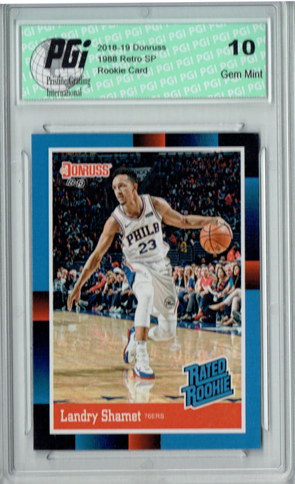 Landry Shamet 2018 Donruss #RR24 1988 Rated Rookie Retro Rookie Card PGI 10