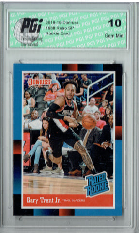 Gary Trent Jr 2018 Donruss #RR33 1988 Rated Rookie Retro Rookie Card PGI 10