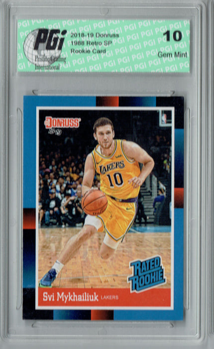 Svi Mykhailiuk 2018 Donruss #RR39 1988 Rated Rookie Retro Rookie Card PGI 10