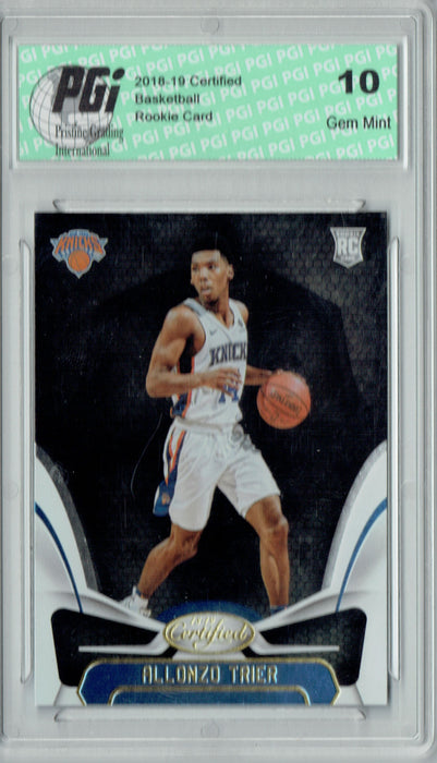Allonzo Trier 2018 Panini Certified #198 Rookie Card PGI 10