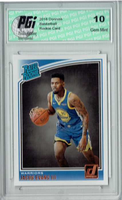 Jacob Evans III 2018 Donruss Basketball #178 Rookie Card PGI 10