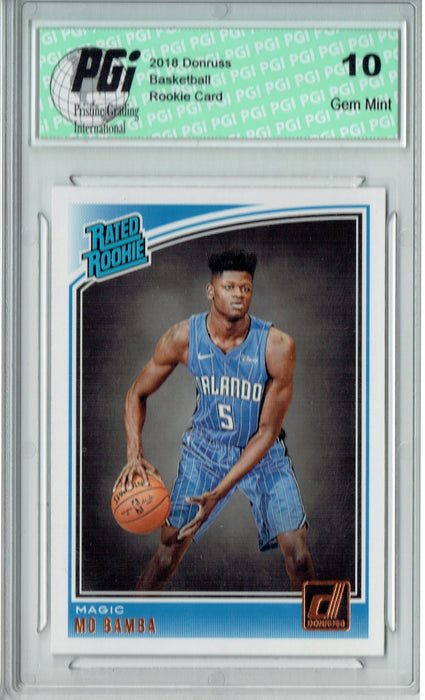 Mo Bamba 2018 Donruss Basketball #160 Rookie Card PGI 10
