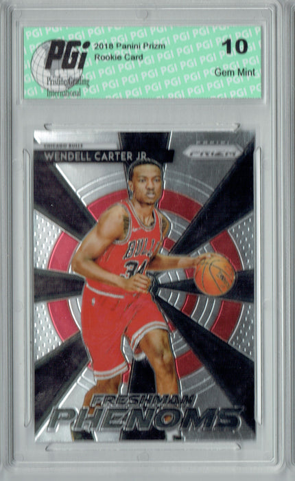 Wendell Carter Jr. 2018 Prizm #19 Freshman Phenoms Rookie Card PGI 10