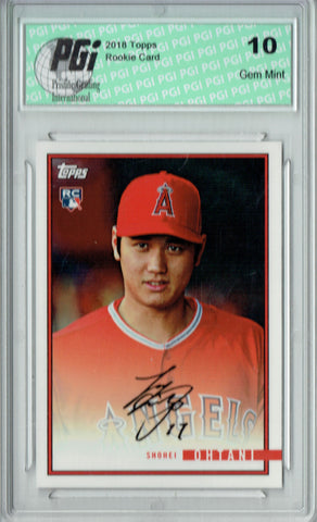 Shohei Ohtani 2018 Topps Rookie Review #29 1435 Made Rookie Card PGI 10