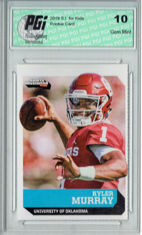 Kyler Murray 2019 S.I. for Kids #791 Hist First Card Ever Rookie Card PGI 10