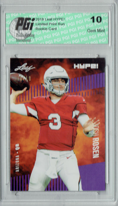 Josh Rosen 2018 Leaf HYPE! #6A Purple SP, Just 10 Made Rookie Card PGI 10
