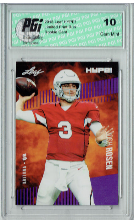 Josh Rosen 2018 Leaf HYPE! #6A Purple Blank Back 1 of 1 Rookie Card PGI 10
