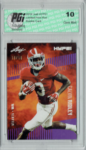 Calvin Ridley 2018 Leaf HYPE! #8 Purple SP, Just 10 Made Rookie Card PGI 10