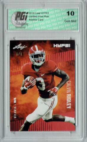 Calvin Ridley 2018 Leaf HYPE! #8 Red SP, Limited to 5 Made Rookie Card PGI 10