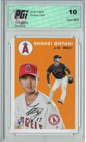 Shohei Ohtani 2018 Topps #250 1954 Throwback, 842 Made Rookie Card PGI 10
