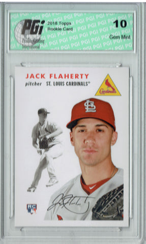 Jack Flaherty 2018 Topps #252 1954 Throwback, 842 Made Rookie Card PGI 10
