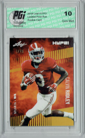 Calvin Ridley 2018 Leaf HYPE! #8 The 1 of 25 Rookie Card PGI 10