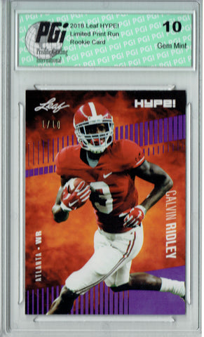 Calvin Ridley 2018 Leaf HYPE! #8 The 1 of 10 Rookie Card PGI 10