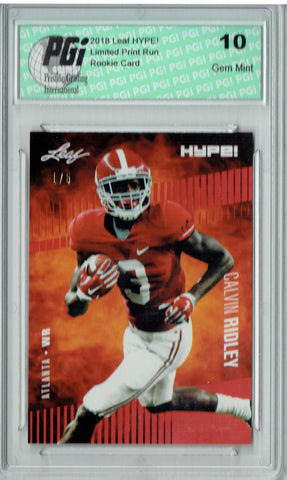 Calvin Ridley 2018 Leaf HYPE! #8 The 1 of 5 Rookie Card PGI 10