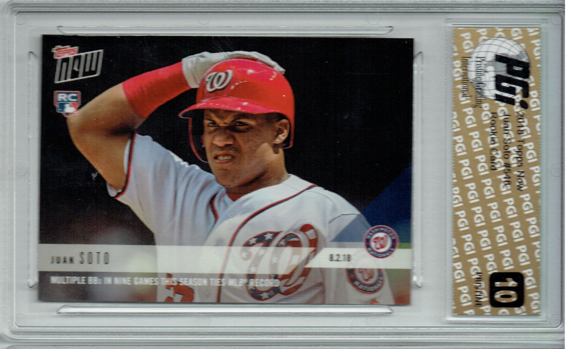 Juan Soto 2018 Topps Now #548 PRISTINE Rookie Card PGI 10