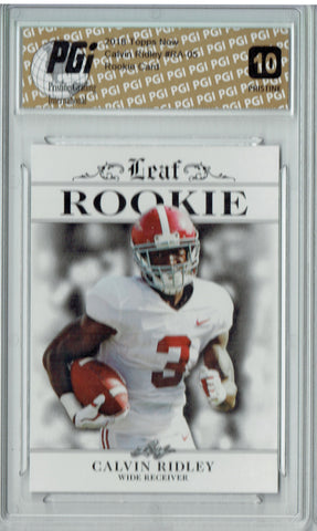 Calvin Ridley 2018 Leaf Exclusive #RA-05 PRISTINE Rookie Card PGI 10