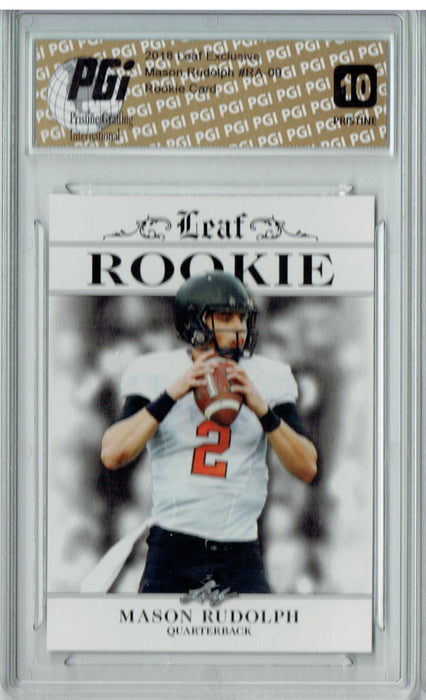 Mason Rudolph 2018 Leaf Exclusive #RA-09 PRISTINE Rookie Card PGI 10