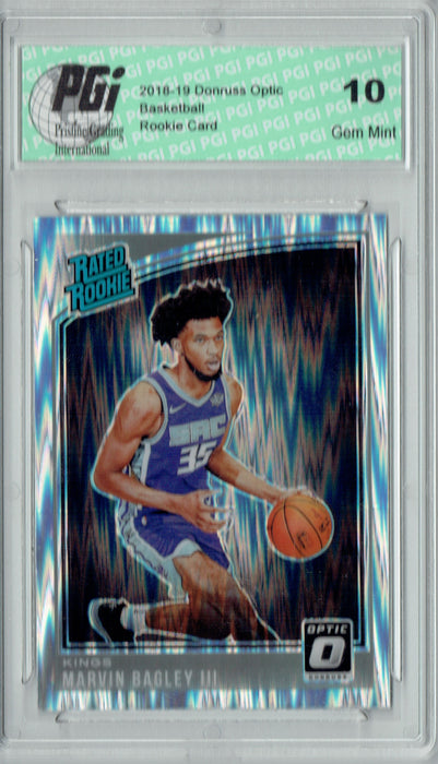 Marvin Bagley III 2018 Donruss Optic #168 Shock SP Rookie Card PGI 10