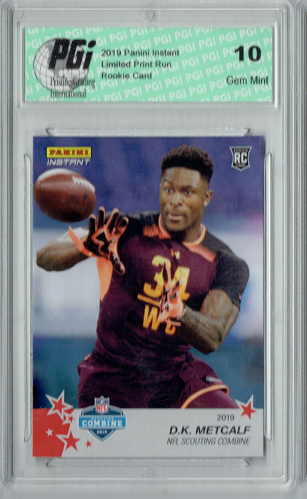 D.K. Metcalf 2019 Panini Instant #7 Combine 1/77 His Very 1st Rookie Card PGI 10