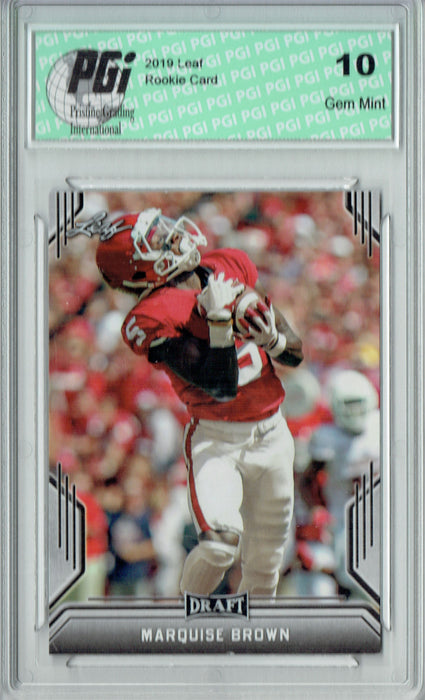 Marquise Brown 2019 Leaf Draft #52 Rookie Card PGI 10