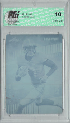 Calvin Ridley 2018 Leaf HYPE! #8 Rare Magenta Plate 1 of 1 Rookie Card PGI 10